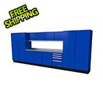 Moduline Select Series 13-Piece Aluminum Garage Cabinet Set (Blue)