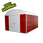 Arrow Sheds Red Barn Steel Storage Shed - 10' x 14'