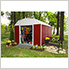 Red Barn Steel Storage Shed - 10' x 14'