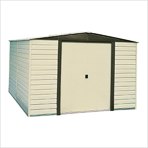 Dallas 10 x 12 ft. Steel Storage Shed with Vinyl Siding