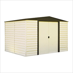 Dallas 10 x 8 ft. Steel Storage Shed with Vinyl Siding