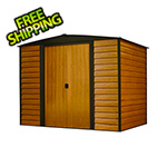 Arrow Sheds Woodridge 8 x 6 ft. Steel Storage Shed with Vinyl Siding