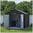 Ezee Shed 10 x 8 ft. Charoal Steel Storage Shed