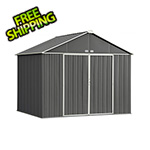 Arrow Sheds Ezee Shed 10 x 8 ft. Charcoal and Cream Trim Steel Storage Shed