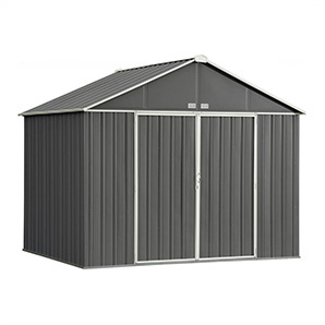 Ezee Shed 10 X 8 Ft. Charcoal And Cream Trim Steel Storage Shed