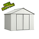 Arrow Sheds Ezee Shed 10 x 8 ft. Cream with Charcoal Trim Steel Storage Shed