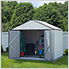 Ezee Shed 10 x 8 ft. Cream with Charcoal Trim Steel Storage Shed