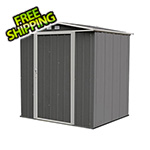 Arrow Sheds Ezee Shed 6 x 5 ft. Charoal with Cream Trim Steel Storage Shed
