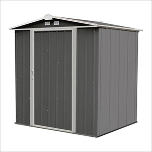 Ezee Shed 6 x 5 ft. Charoal with Cream Trim Steel Storage Shed