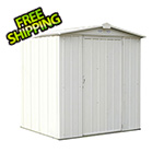 Arrow Sheds Ezee Shed 6 x 5 ft. Cream Steel Storage Shed
