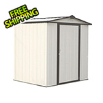 Arrow Sheds Ezee Shed 6 x 5 ft. Cream with Charcoal Trim Steel Storage Shed