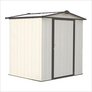 Ezee Shed 6 x 5 ft. Cream with Charcoal Trim Steel Storage Shed