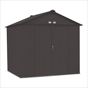 Ezee Shed 8 x 7 ft. Charoal Steel Storage Shed