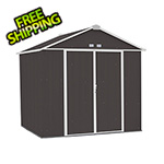 Arrow Sheds Ezee Shed 8 x 7 ft. Charoal with Cream Trim Steel Storage Shed