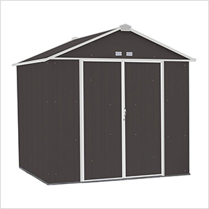Ezee Shed 8 x 7 ft. Charoal with Cream Trim Steel Storage Shed