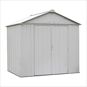 Ezee Shed 8 x 7 ft. Cream Steel Storage Shed