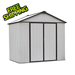 Arrow Sheds Ezee Shed 8 x 7 ft. Cream with Charcoal Trim Steel Storage Shed