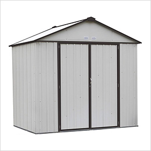 Ezee Shed 8 x 7 ft. Cream with Charcoal Trim Steel Storage Shed