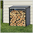 Firewood Rack 4 x 2 ft. Anthracite