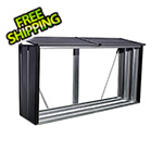 Arrow Sheds Firewood Rack 8 x 2 ft. Anthracite