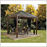 South Beach 12 x 12 ft. Taupe Gazebo