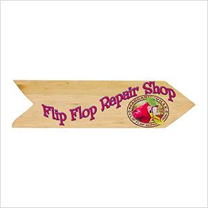 Flip Flop Repair Shop Directional Garden Sign