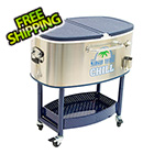 Margaritaville Chill Rolling Oval Stainless Steel Cooler