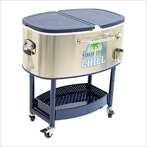 Chill Rolling Oval Stainless Steel Cooler