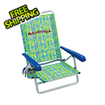 Margaritaville Green Fish 5-Position Beach Chair