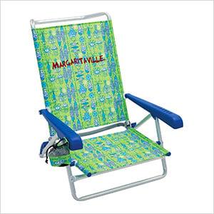 Green Fish 5-Position Beach Chair