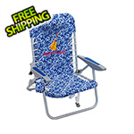 Margaritaville Blue Floral 4-Position Backpack Beach Chair