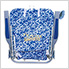 Blue Floral 4-Position Backpack Beach Chair