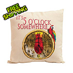 Margaritaville It's 5 O'Clock Somewhere Double Sided Throw Pillow
