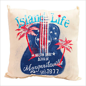 Island Life Double Sided Throw Pillow