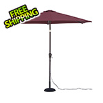 Quik Shade Red 9 ft. Warm White LED Umbrella