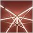 Red 9 ft. Warm White LED Umbrella