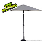 Quik Shade Khaki 9 ft. Warm White LED Umbrella