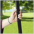 Charcoal 6 x 6 ft. Slant Leg Canopy
