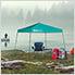 Turquoise 9 x 9 ft. Slant Leg Canopy