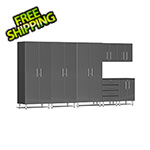 Ulti-MATE Garage Cabinets 7-Piece Cabinet Kit in Graphite Grey Metallic