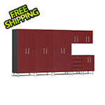 Ulti-MATE Garage Cabinets 7-Piece Cabinet Kit in Ruby Red Metallic