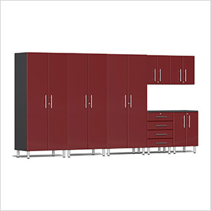 7-Piece Cabinet Kit in Ruby Red Metallic