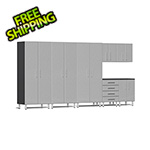 Ulti-MATE Garage Cabinets 7-Piece Cabinet Kit in Stardust Silver Metallic