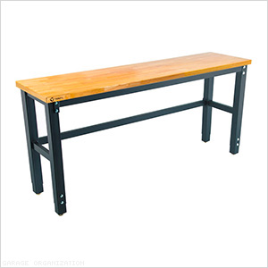 72 x 19 in. Wood Top Table