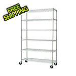 Trinity Chrome 6-Tier Wire Shelving Rack