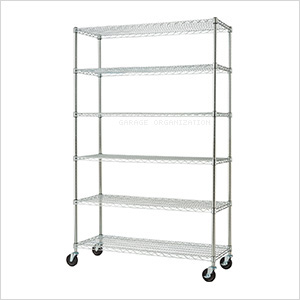 Chrome 6-Tier Wire Shelving Rack