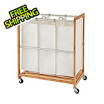 Trinity 3-Bag Bamboo Laundry Cart