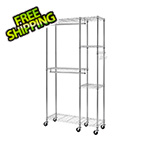 Trinity Chrome Mobile Closet System Organizer