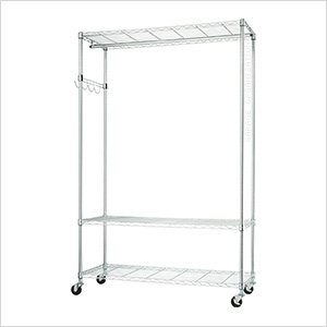 Chrome Mobile Garment Rack