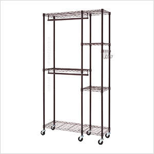 Bronze Mobile Closet System Organizer